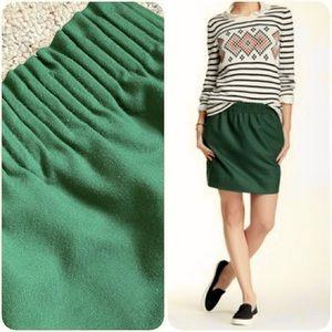 JCrew green skirt